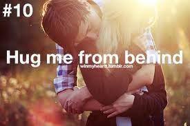 Hug me from behind