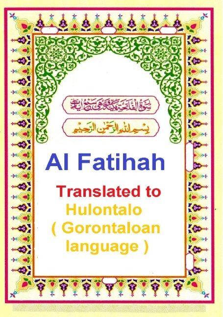 Translation of the meaning of surat al fatihah by gorontalo translation of the meaning of surat al fatihah by gorontalo hulontalo gorontaloan language stopboris Choice Image
