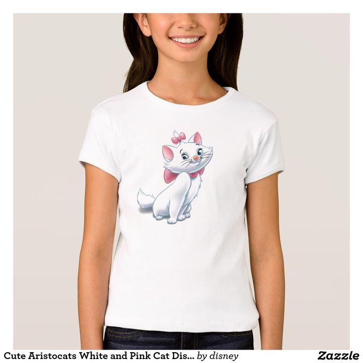 Gato blanco y rosado Disney de Aristocats lindo. Regalos, Gifts. #camiseta #tshirt