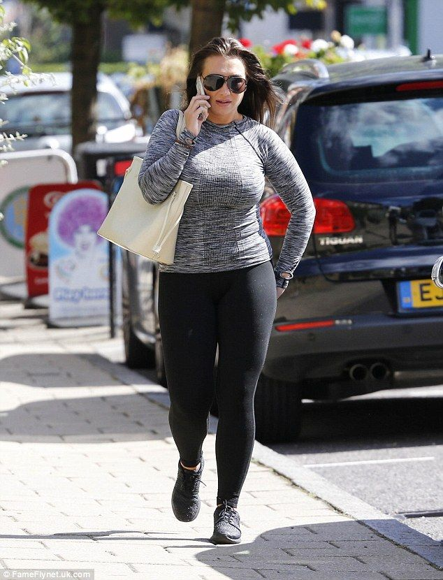 Motivated: She's vowed to slim down in time for her TOWIE return. And Lauren Goodger, 29, seemed to be sticking to her word as she headed to the gym in Essex on Thursday
