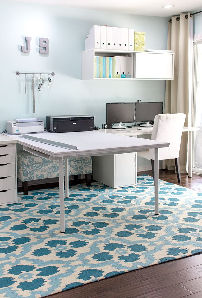 Valspar Stillness blue office from Jenna Sue