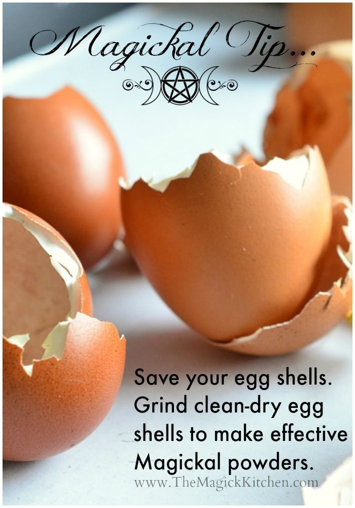 Magickal Tip - Egg Shell Powders by The Magick Kitchen