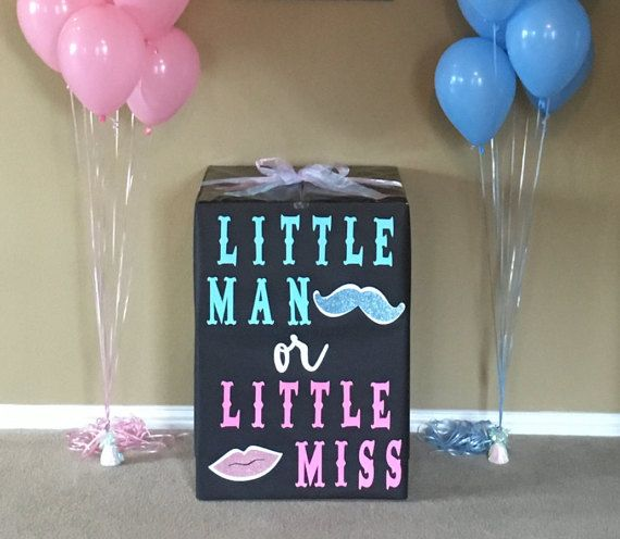 Gender Reveal Box  Gender Reveal Box Decoration by LoveLittleBee                                                                                                                                                                                 More