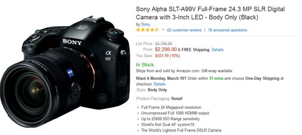Sony SLT-A99 now available at a discounted priced when compared with the original price, if you are a new user or thinking to purchase, than it's a right time to buy Sony SLT-A99 at discounted price. #sonyslta99 #sonya99 #fullframecamera #dealsoncamera #dealsondslr #dslrdeals