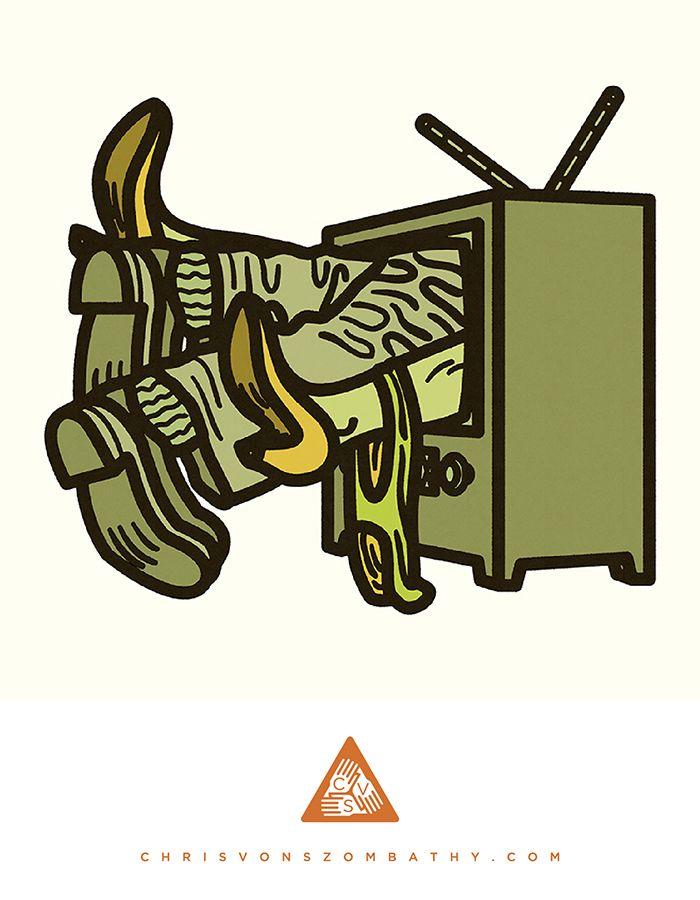 """""""TV"""" an illustration by artist/designer Chris von Szombathy."""