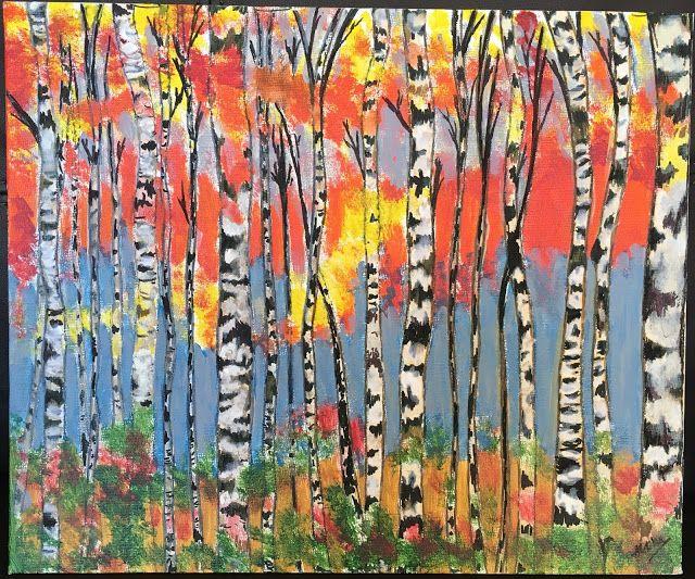 Organic Paint Brush: Abstract Birch