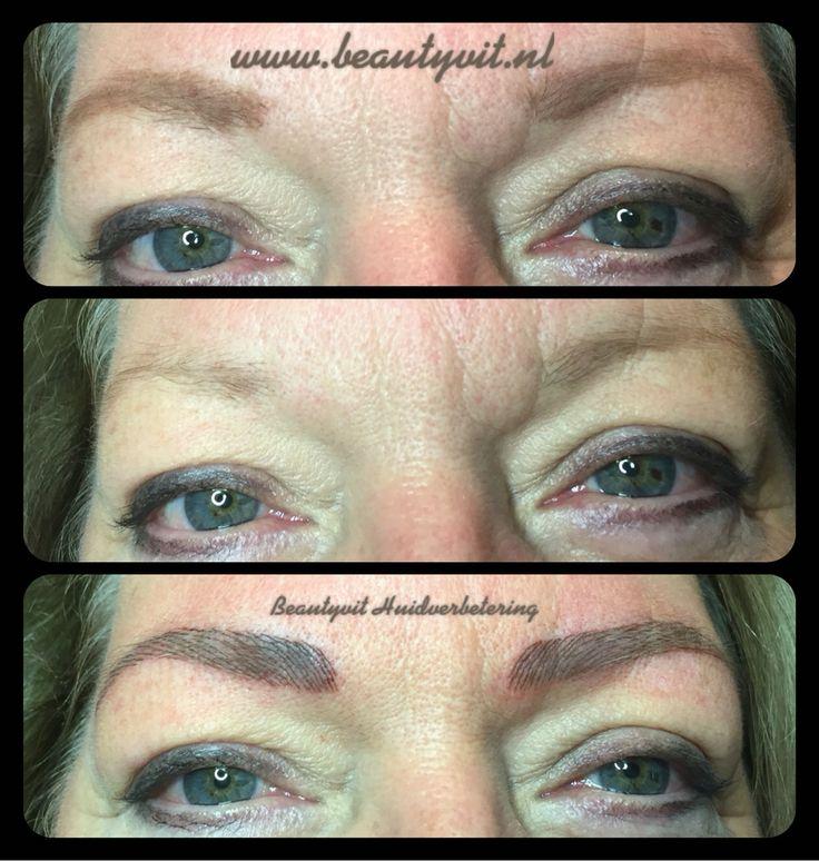 Metamorfose van je wenkbrauwen door middel van permanente make-up Hairstroke. 076-5223838 www.beautyvit.nl