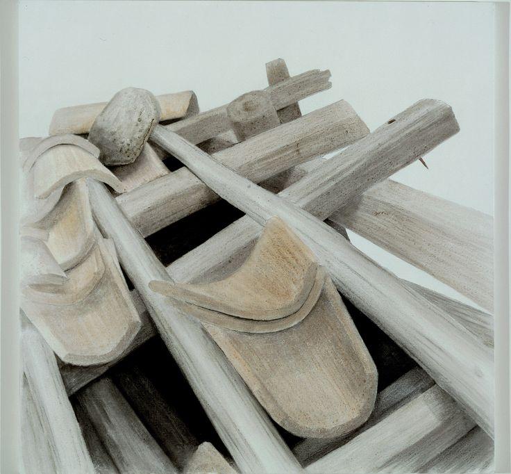 Σωτήρης Σόρογκας, Πινακοθήκη Ε. Αβέρωφ Παλιά Στέγη, 1986 Ακρυλικό και κάρβουνο σε μουσαμά, 100 χ 100 εκ.