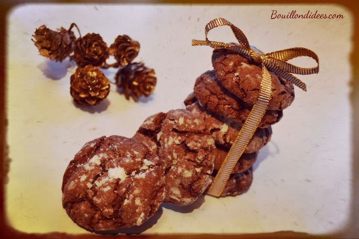 """Pour Noël, des """"Chocolats Crinkles"""" sans GLO (gluten, lait, oeuf)"""