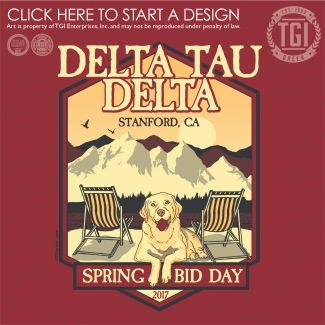 Delta Tau Delta | ΔTΔ | Fall Rush | Fraternity Bid Day | TGI Greek | Greek Apparel | Custom Apparel | Fraternity Tee Shirts | Fraternity T-shirts | Custom T-Shirts