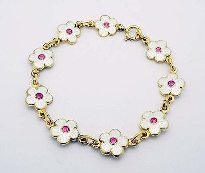 Finn-Jensen-for-OPRO-Norway-6-1-2-Floral-Bracelet-in-Sterling-Silver-Enamel