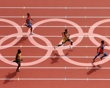 Rusheen McDonald of Jamaica, Luguelin Santos of Dominican Republic, Oscar Pistorius of South Africa and Maksim Dyldin of Russia compete in the Men's 400m Round 1 Heats on Day 8 of the London 2012 Olympic Games at Olympic Stadium on August 4, 2012 in London, England. (Photo by Ian Walton/Getty Images) - http://www.PaulFDavis.com/success-speaker (info@PaulFDavis.com)