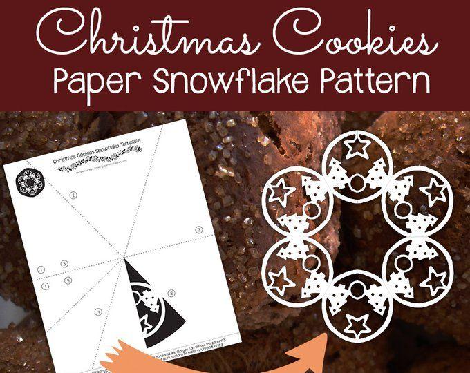 reindeer paper snowflake template  Reindeer Paper Snowflake Pattern (PDF Digital Download ...