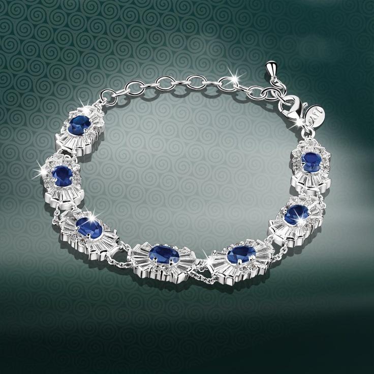 Newbridge Maureen O'Hara Bracelet Clear and Sapphire
