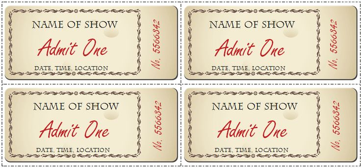 show tickets template