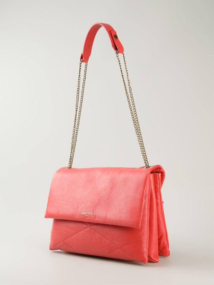 Orange leather 'Sugar' shoulder bag from Lanvin