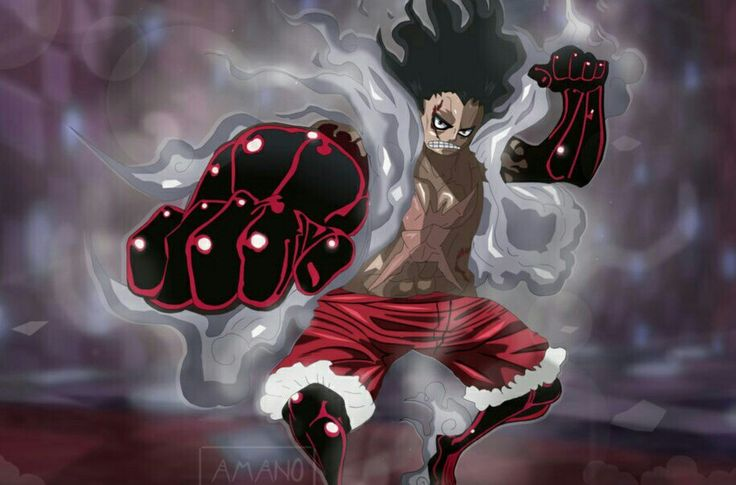Luffy 4th gear (bounce man). Luffy Snakeman Vs Bounce Man
