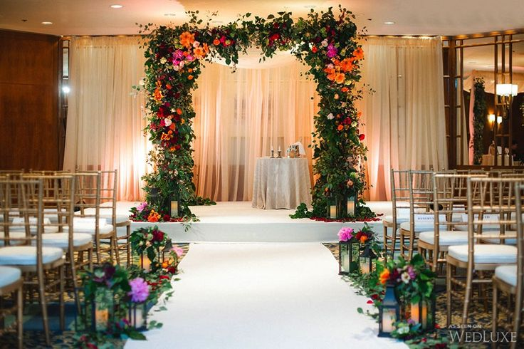 Indoor Ceremony Inspirations: 431 Best Images About Chuppah Crushes On Pinterest