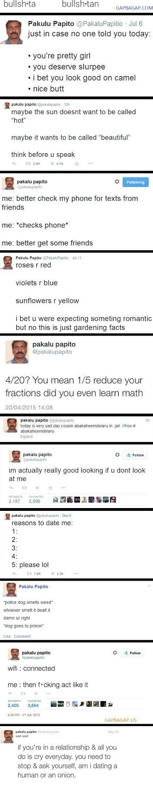 Top 10 Funniest Tweets By Pakalu Papito