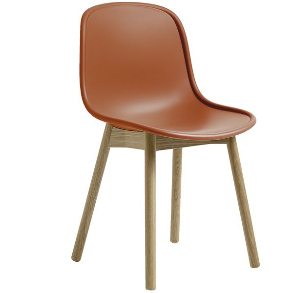 Neu13 chair, orange/matt lacquered ash, by Wrong for Hay.