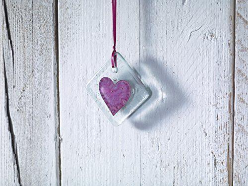 Jo Downs Classic Klaar Handmade Glass Red Heart Midi Hanging  Price : £6.00 http://www.bronzebarngallery.com/Jo-Downs-Classic-Handmade-Hanging/dp/B00NC5CGIO