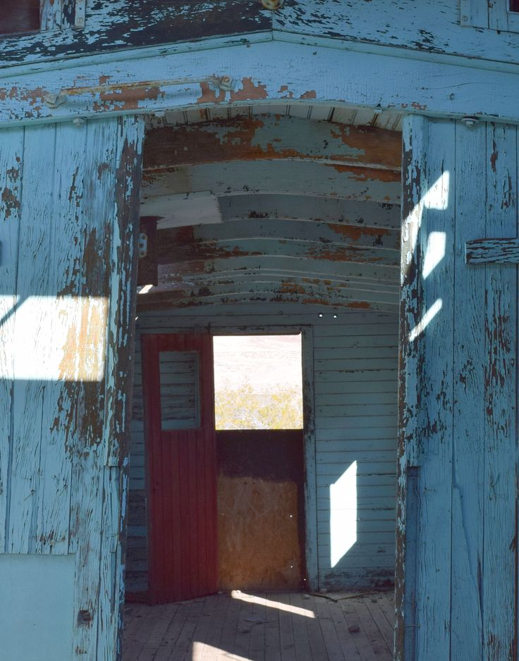 Interior of an abandoned railroad car in the ghost town of Rhyolite, NV. Read more at: http://vegas-girl.blogspot.com/2016/01/a-day-trip-to-rhyolite-and-death-valley.html