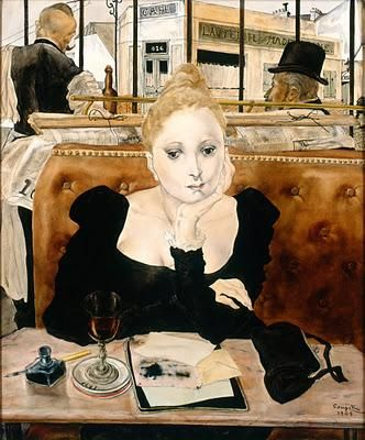 Leonard Tsuguharu Foujita (1886-1968), Café 1949.  Musée d'Art moderne de la ville de Paris, Paris*