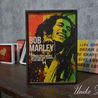 Hiasan Dinding Quote Bob Marley WQ-033 Material : MDF dengan frame kayu Ukuran : 31 x 22 x 2 Cm #bobmarleyquotes #walldecorations #hiasandinding #unikedekor