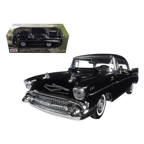 "1957 Chevrolet Bel Air Black ""Timeless Classics"" 1/18 Diecast Model Car by Motormax"