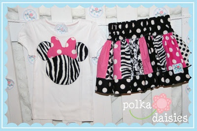 Polkadaisies Boutique Children's Clothing and Gifts: Polkadaisies...custom birthday outfit ( Minnie Mouse birthday outfit, number shirt, twirl skirt)