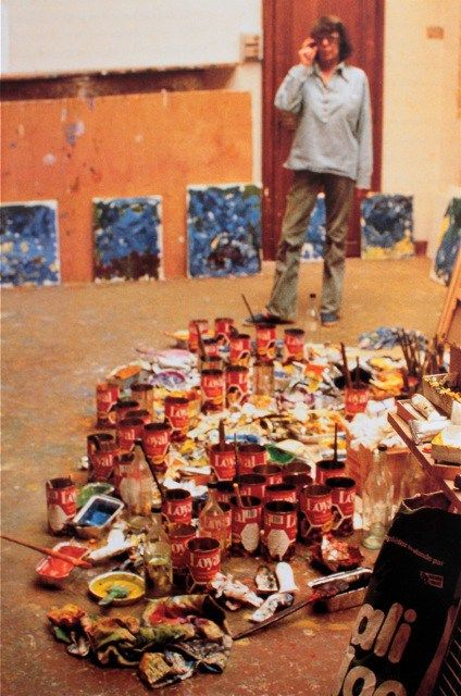 EDOUARD BOUBAT, 'Joan Mitchell in her studio, Vetheuil', 1984