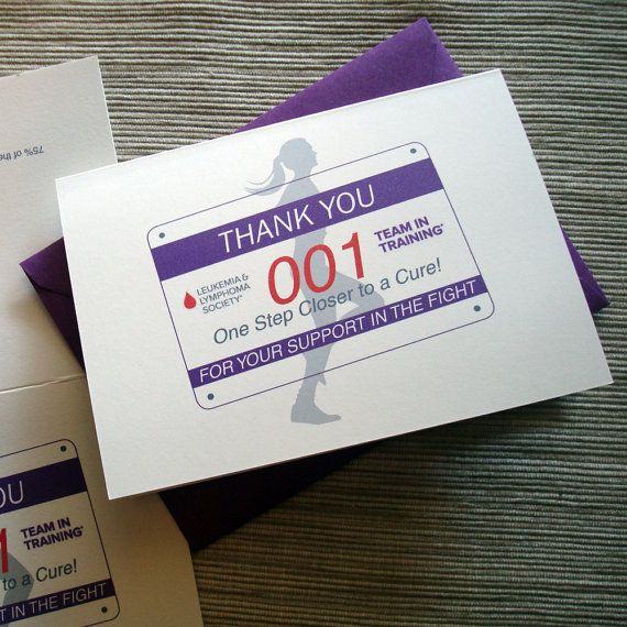 For Team in Training folks - a cute way to say THANK YOU for donating to all your friends and family! #TNT #fundraising