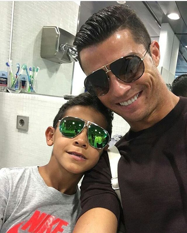 Cristiano Ronaldo Proves Hes Just A Normal Dad By Turning Ball Boy