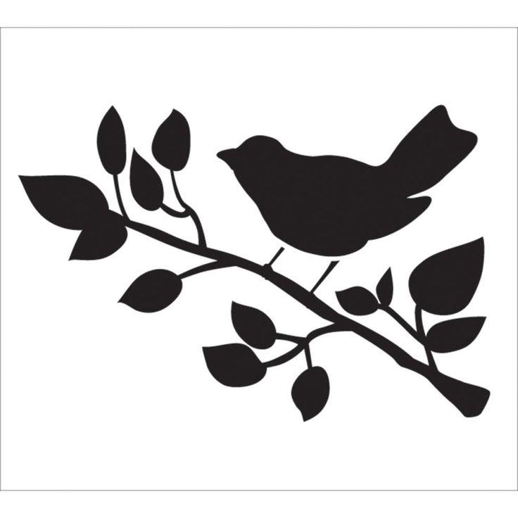 Bird 9x8 Stencil                                                                                                                                                     Más