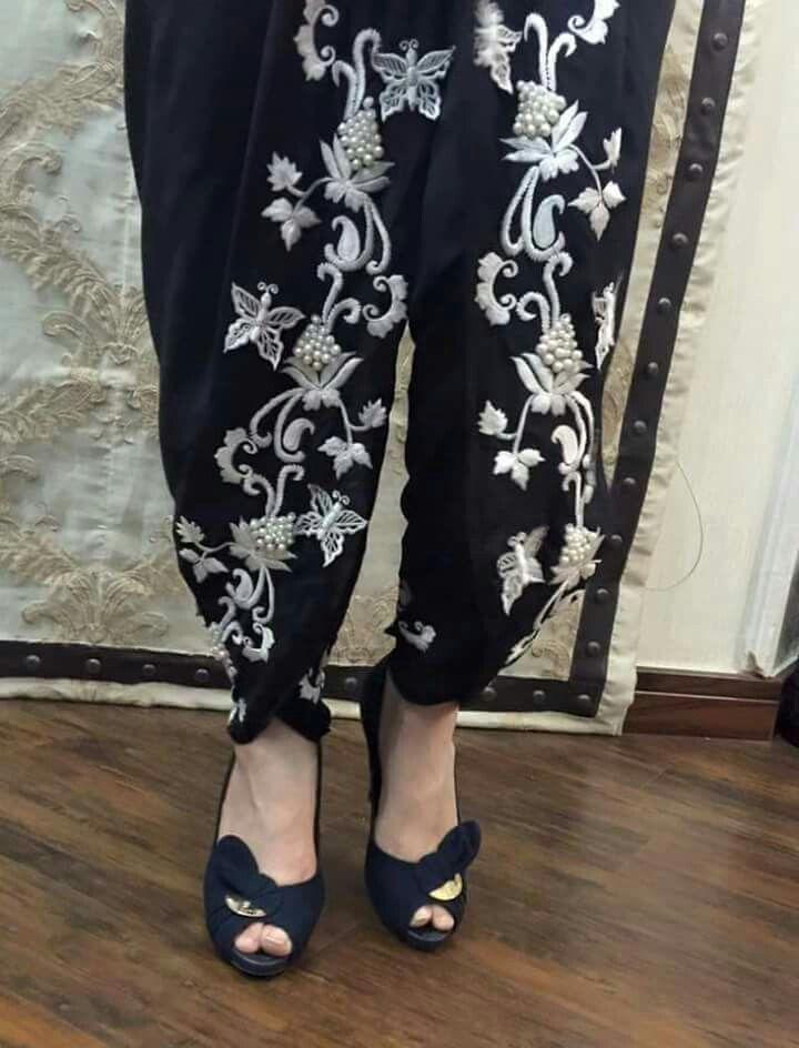 Pakistan fashion tulip shalwar