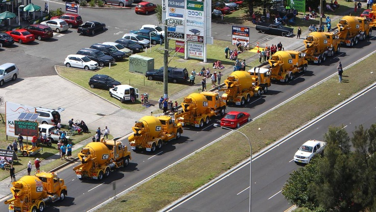Camp Quality Convoy - pretty special weekend in Wollongong when 748 trucks line up to raise $ 900K for charity