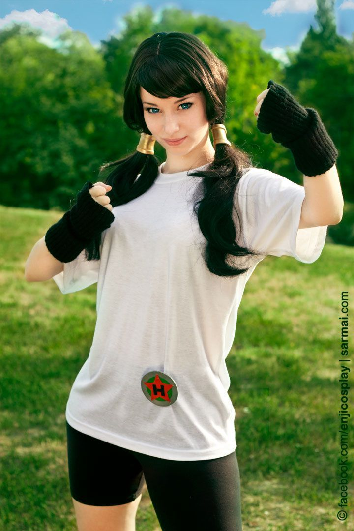 DragonBall- Videl cosplay by *EnjiNight on deviantART - Visit now for 3D Dragon Ball Z compression shirts now on sale! #dragonball #dbz #dragonballsuper
