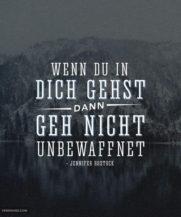 'Wenn du in dich gehst, dann geh nicht unbewaffnet' - Jennifer Rostock