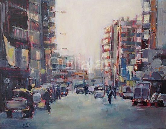 Inner City by Julia Forman Oil ~ 1000 x 800