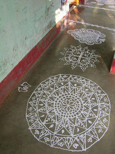 Padmachita with footprints and other drawings, Mana Basa, Orissa, 2007