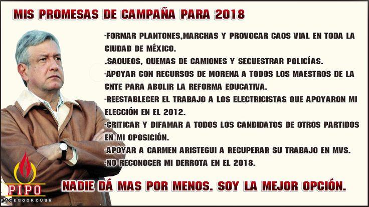 Promesas de campaña de AMLO.