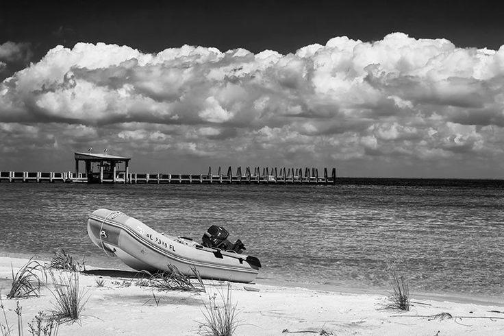 Boat Landed on an Island Beach (A0015857)