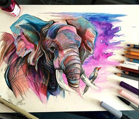 Katy Lipscomb est une illustratrice freelance qui réalise de très beaux dessins d'animaux au crayon et feutre.