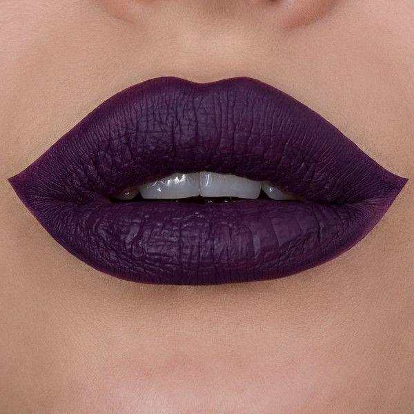 Wicked Liquid Lipstick Matte Attack Liquid Lipstick ($14) ❤ liked on Polyvore featuring beauty products, makeup, lip makeup, lipstick, lips, beauty, matte burgundy lipstick, matte lipstick, lips makeup and deep purple lipstick