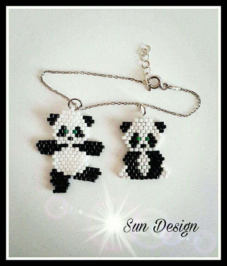 Love Design, Peyote Stitch, Brick Stitch, Panda, Bricks, Stitches, Jewelry, Accounts, Beads