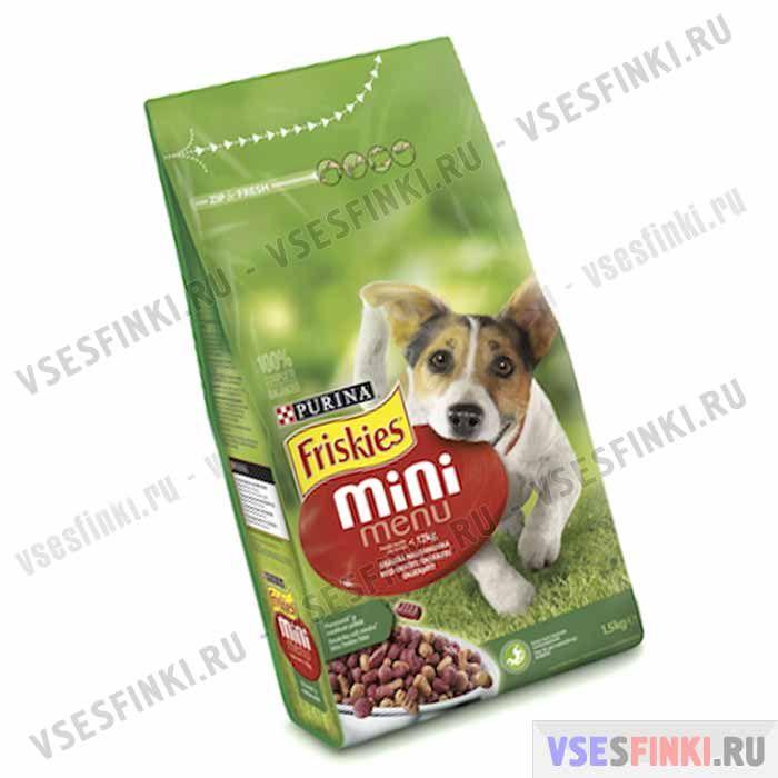 Корм Friskies Mini Menu (Мясо и зерно) для собак 1,5 кг