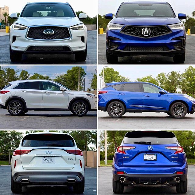 Battle Of Their Best Acura Rdx Vs Infiniti Qx50 Leave Your Pick Below Link In Bio To Read More Acura Rdx Acurardx Acura Rdx Acura Infiniti