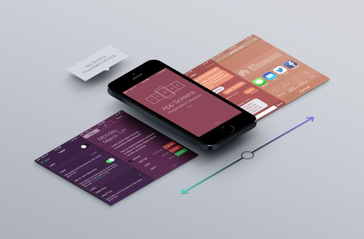 Perspective App Screens Mock-Up 6   Psd Mock Up Templates   Pixeden