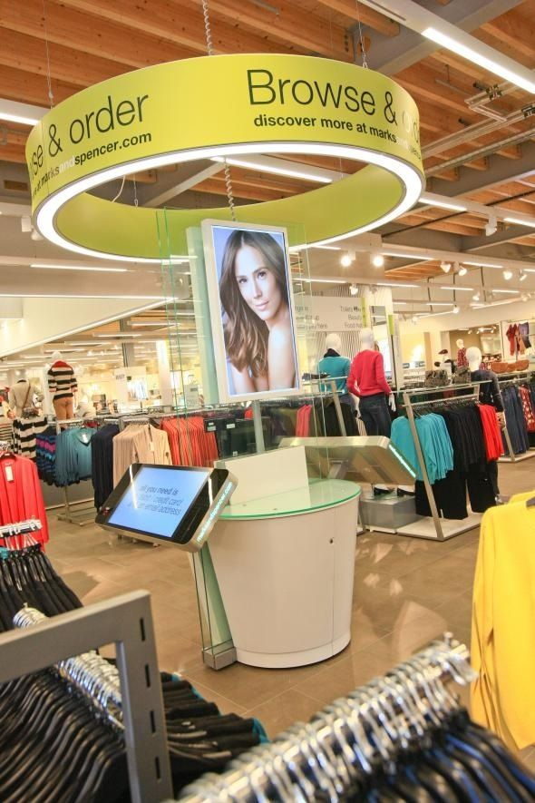 Marks's new store and digital signage system #doohdas