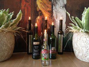 Olielampje voor uw wijnfles - Tafel Olielampjes - Kaarsen en Fakkels